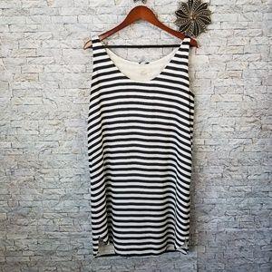 Ann Taylor Loft Nautical Stripe Dress Size Large